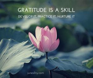 Gratitude is a skill